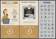 3D printing infographic template and elements. Royalty Free Stock Photos