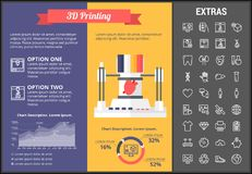 3D printing infographic template and elements. Royalty Free Stock Photography