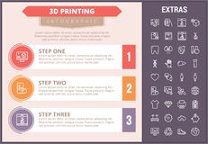 3D printing infographic template and elements. Stock Image