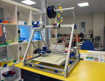 3D Printing - The italian scientific FabLab Royalty Free Stock Photography