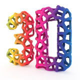 3d printing letters Stock Photo