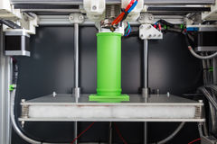 3d printing with light green filament Stock Images