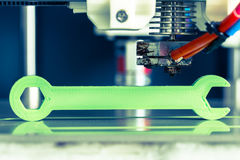 3d printing with light green filament royalty free stock images