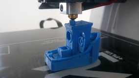 3D printing little boat. Boat 3D model made by 3D printing. Made with a Robo R1 3D printer Royalty Free Stock Images