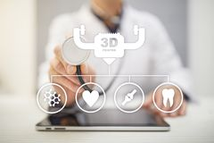 3d printing in modern medical technology. Bioprinting, prosthetics. 3d printing in modern medical technology. Bioprinting, prosthetics stock photos