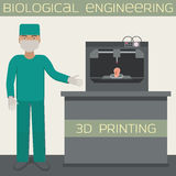 3D printing for producing a cellular construct,biological engineering Royalty Free Stock Photo