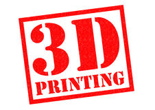 3D PRINTING. Red Rubber Stamp over a white background Royalty Free Stock Image