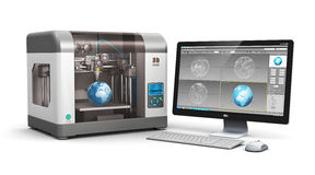 3D printing technology Stock Images