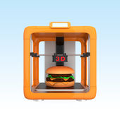 3D printing technology for food industry Royalty Free Stock Photo