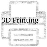3D printing word cloud shape Royalty Free Stock Photos