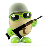 3d Private potato Royalty Free Stock Image