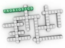 3d Probiotics word cloud concept Stock Image