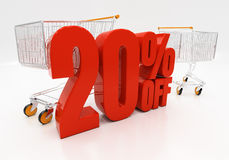 3D 20 procent royaltyfri bild