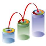 3D Process Arrow Tubes. An image of a 3d process arrow tube chart Stock Photography