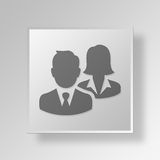 3D Professionals icon Business Concept Stock Photo