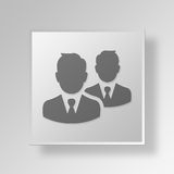 3D Professionals icon Business Concept Stock Photos