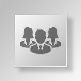 3D Professionals icon Business Concept Royalty Free Stock Photo