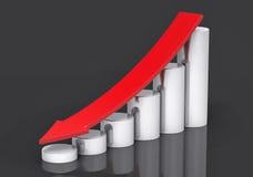 3D  Profit Decrease Background Royalty Free Stock Image