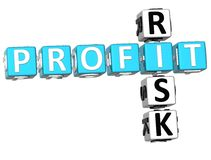 3D Profit Risk Crossword. On white backgound Royalty Free Illustration