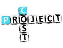 3D Project  Cost Crossword Stock Photos