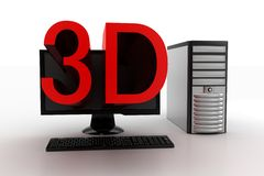 3D Projecting From Digital Computer Royalty Free Stock Image