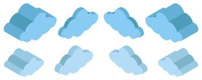 3D projekt dla błękitnych chmur ilustracji
