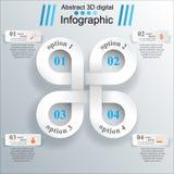 3D projekta infographic szablon i marketingowe ikony Fotografia Stock