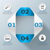 3D projekta infographic szablon i marketingowe ikony Obrazy Stock