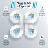 3D projekta infographic szablon i marketingowe ikony Obrazy Royalty Free