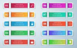 3D projekta infographic szablon i marketingowe ikony Obraz Royalty Free