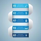 3D projekta infographic szablon i marketingowe ikony Zdjęcia Royalty Free