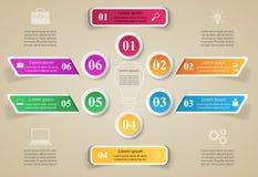 3D projekta infographic szablon i marketingowe ikony Fotografia Royalty Free