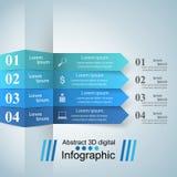 3D projekta infographic szablon i marketingowe ikony Zdjęcie Royalty Free