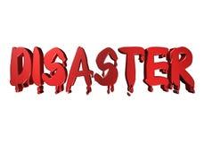 3D projekta typografii katastrofa Zdjęcie Stock