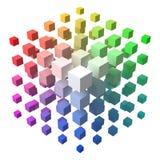 3d projektują wektorową kubiczną formę robić mali sześciany z ilustracji