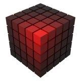 3d projektują wektorową kubiczną formę robić mali sześciany z royalty ilustracja