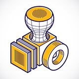 3D projeto, cubo dimensional do vetor do sum?rio ilustração do vetor