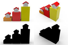 3d property growth concept collections with alpha and shadow channel Stock Photography