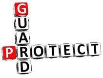 3D protegem o protetor Crossword Imagem de Stock Royalty Free