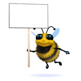 3d Protester bee Royalty Free Stock Photography