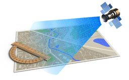 3d protractor Stock Photography