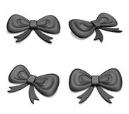 3D Provisions black ribbon icons. 3D Icon Design Series. Royalty Free Stock Photo