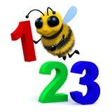 3d 123 pszczoła Zdjęcia Stock