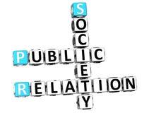 3D Public Relation Society Crossword Stock Image