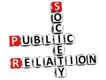 3D Public Relation Society Crossword Stock Photos