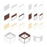 3D pudełka toczne żaluzje royalty ilustracja