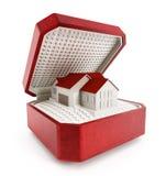 3d pudełkowatego pojęcia nieruchomości domu ilustracyjny nowy real Fotografia Royalty Free