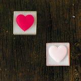 3d pudełkowaty prezenta serca wizerunek Zdjęcia Royalty Free