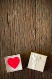 3d pudełkowaty prezenta serca wizerunek Obrazy Stock