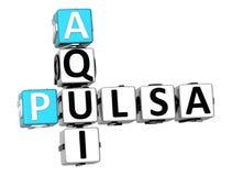3D Pulsa Aqui Crossword Royalty Free Stock Photography